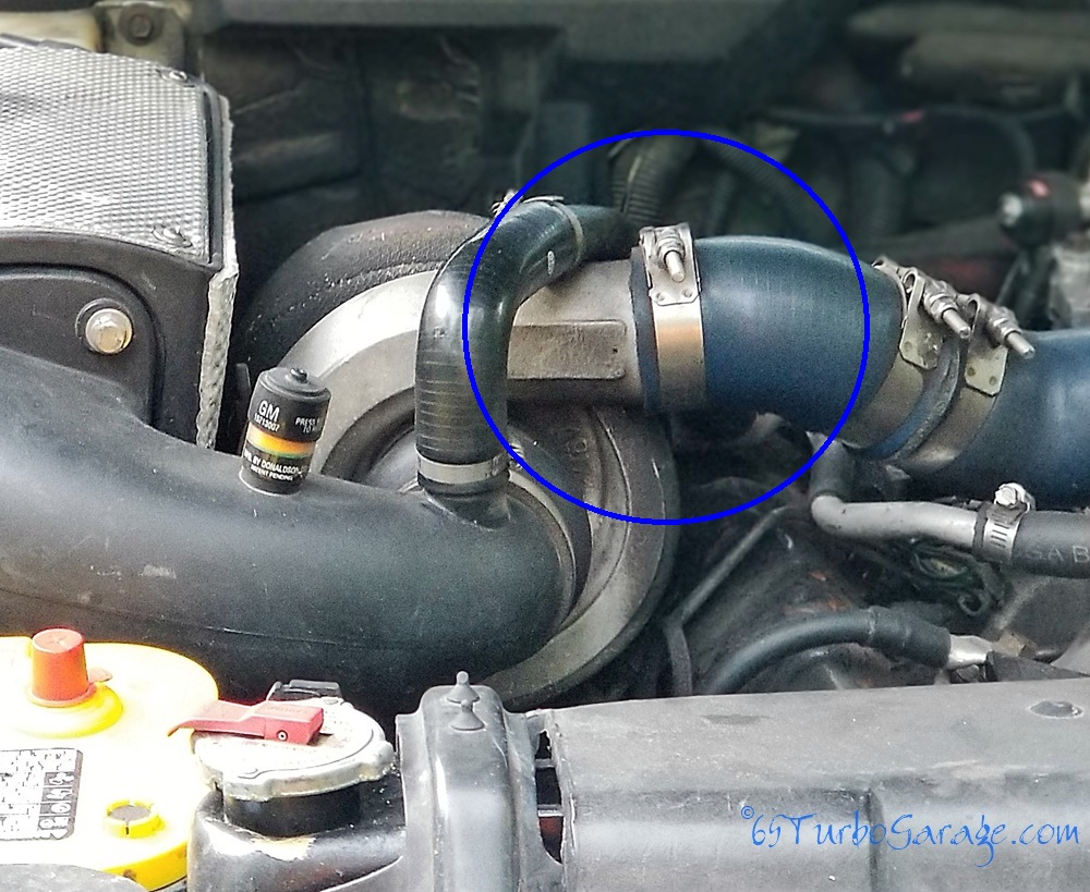 Disconnect the turbo to air plenum connection