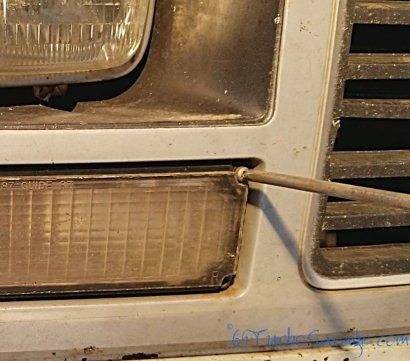 Remove front blinker screws
