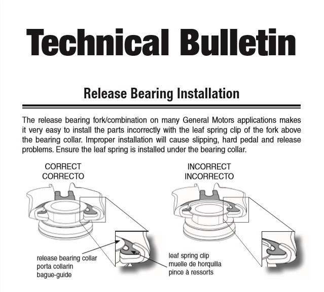 GM TO bearing bulletin