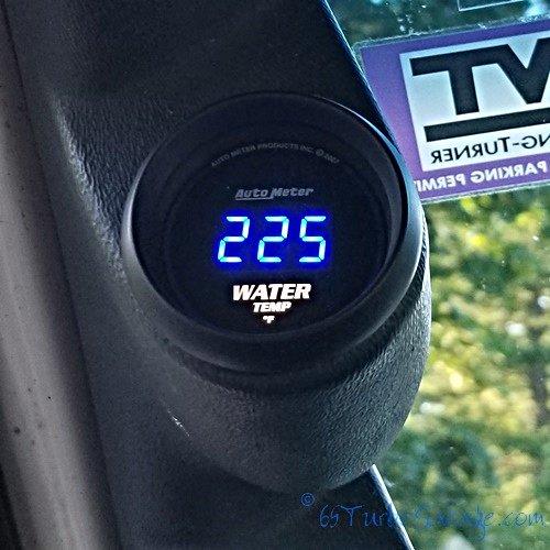 Autometer temp gauge at 225