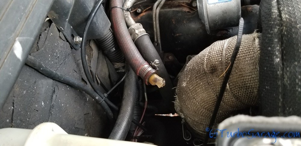 Broken fitting on downpipe