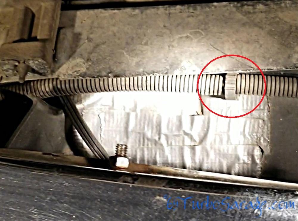 Release loom clip bottom right
