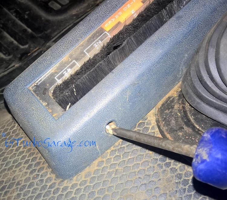Remove Transfer Case Shifter Cover