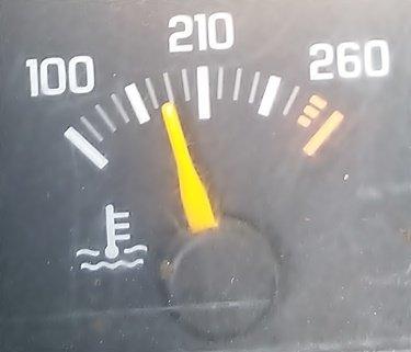 Temp gauge at +1.75
